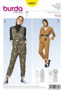 6482 Burda Pattern: Burda Young Jumpsuit